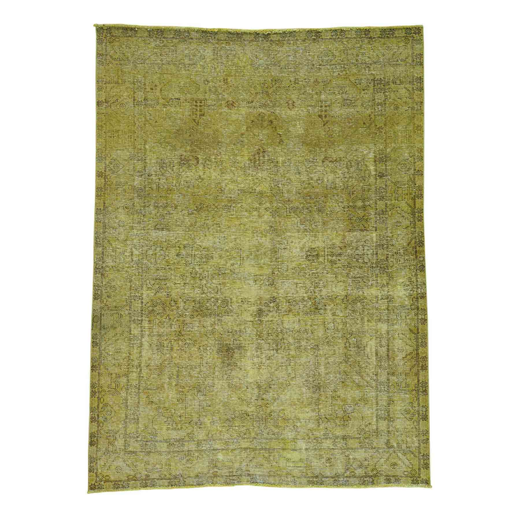 Overdyed-Vintage-Hand-Knotted-Rug-121750