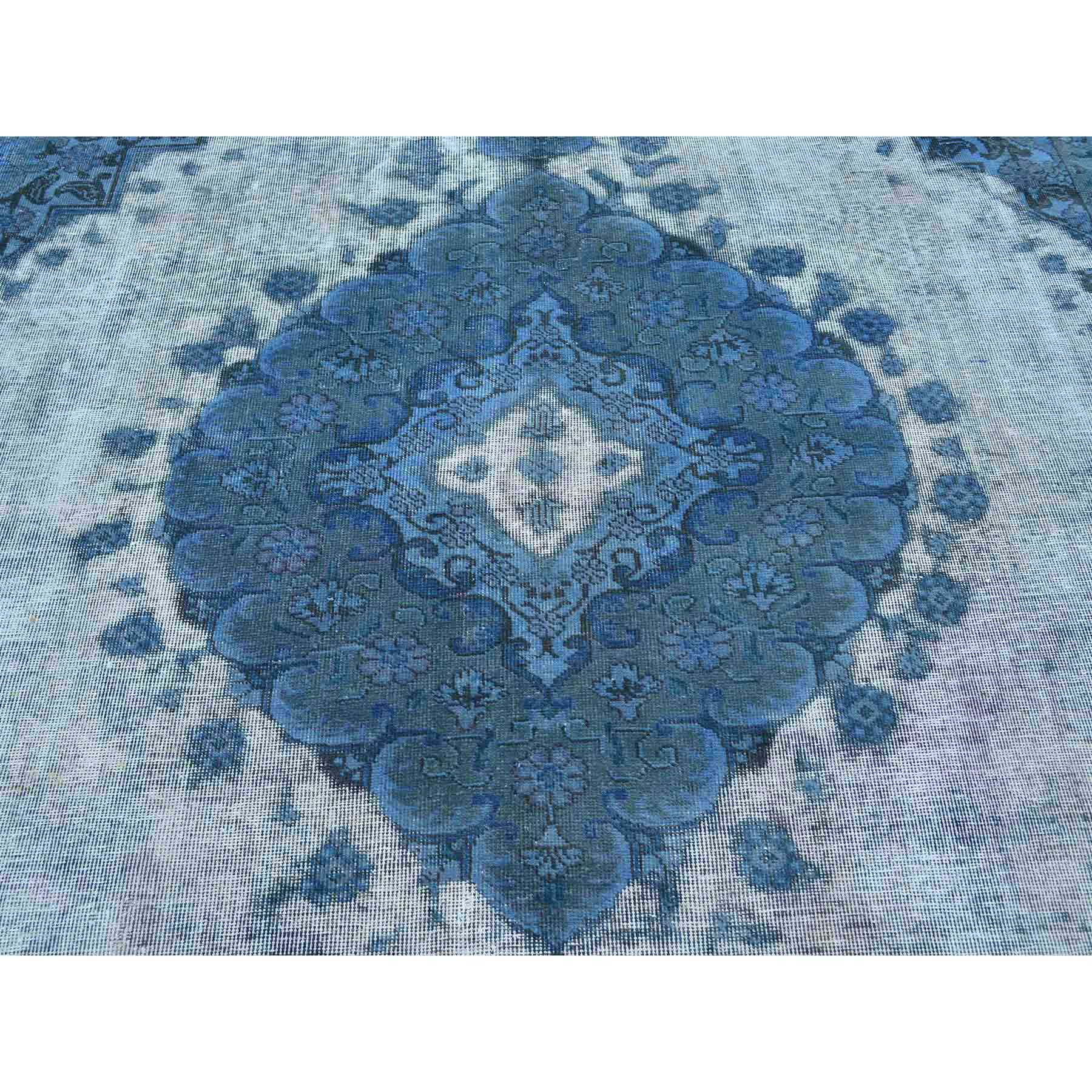 Overdyed-Vintage-Hand-Knotted-Rug-125790