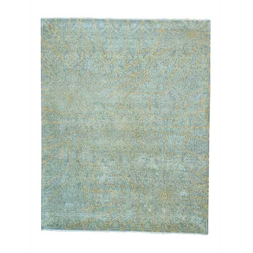 Transitional Agra Modern Tone On Tone Hand Knotted
