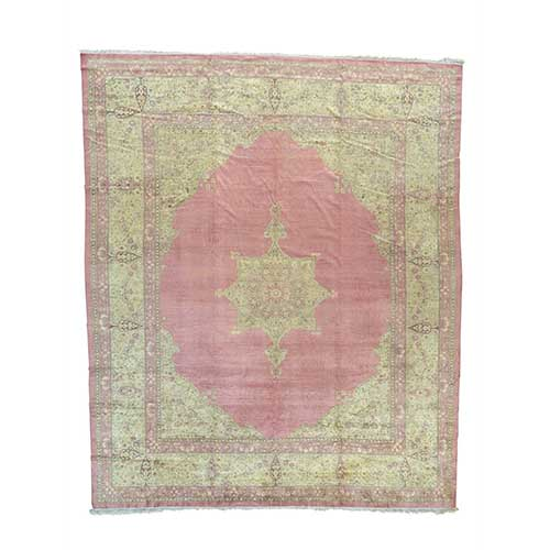 Antique Turkish Sivas Even Wear Pink Oversize Oriental