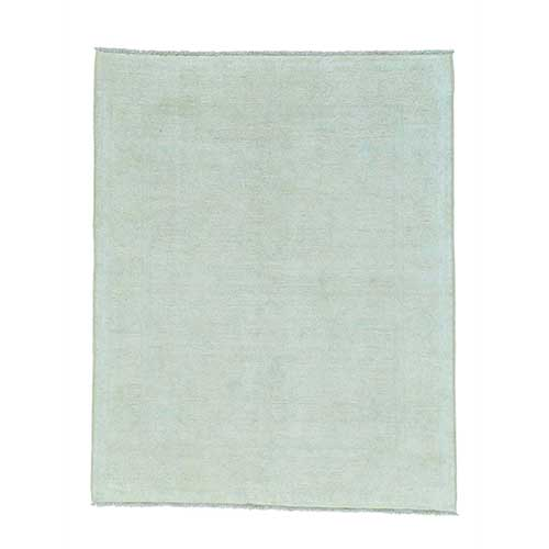 Pure Wool White Wash Oushak Hand Knotted Oriental
