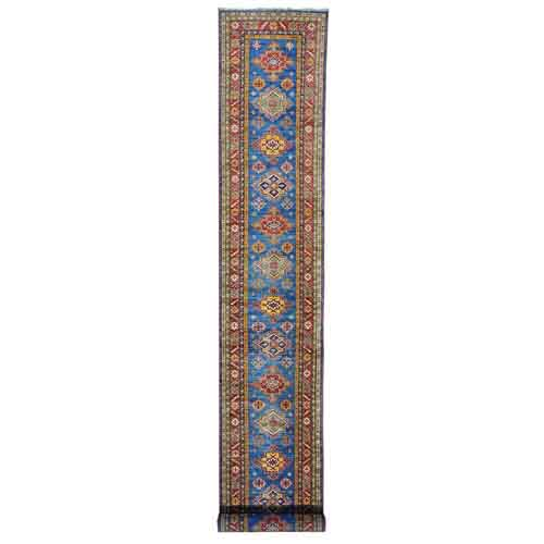 Tribal Design Super Kazak XL Runner Pure Wool Hand Knotted