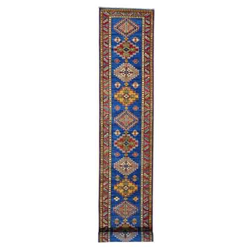 Super Kazak XL Runner Hand Knotted Pure Wool Oriental