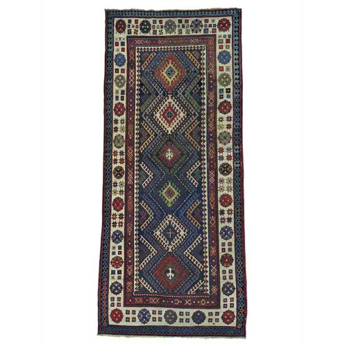 Antique Caucasian Talesh Exc Cond Wide Runner Hand Knotted