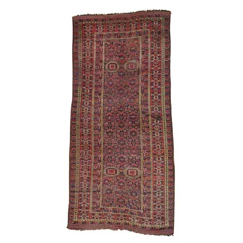 Gallery Size Antique Afghan Beshir Exc Cond Pure Wool