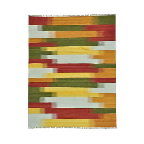 Colorful Durie Kilim Reversible Flat Weave Hand Woven