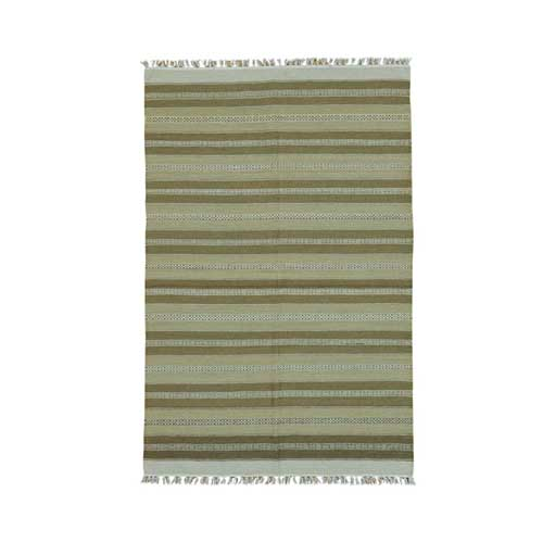 Pure Wool Reversible Flat Weave Striped Durie Kilim
