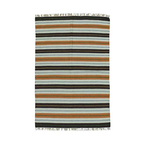 Flat Weave Hand Woven Striped Durie Kilim Pure Wool