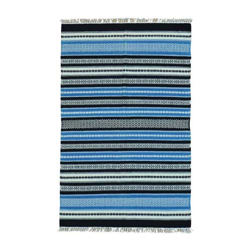 Striped Flat Weave Durie Kilim Hand Woven Oriental