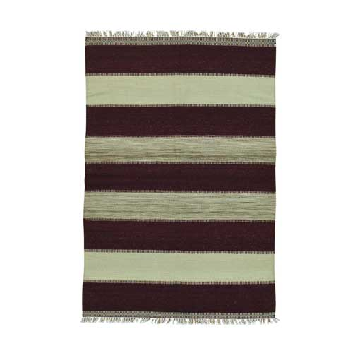 Pure Wool Flat Weave Striped Durie Kilim Hand Woven Oriental