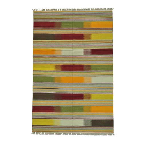 Durie Kilim Colorful Flat Weave Hand Woven Oriental