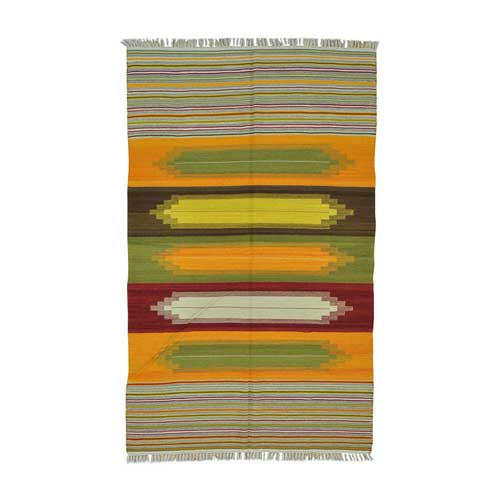 Multicolored Durie Kilim Flat Weave Hand Woven Oriental