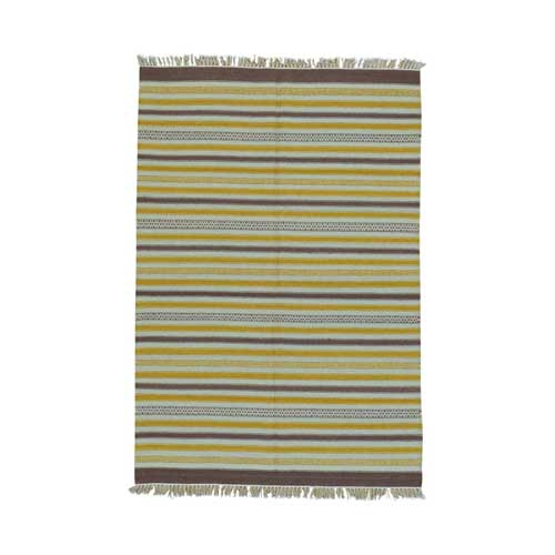 Durie Kilim Striped Flat Weave Reversible Pure Wool Oriental