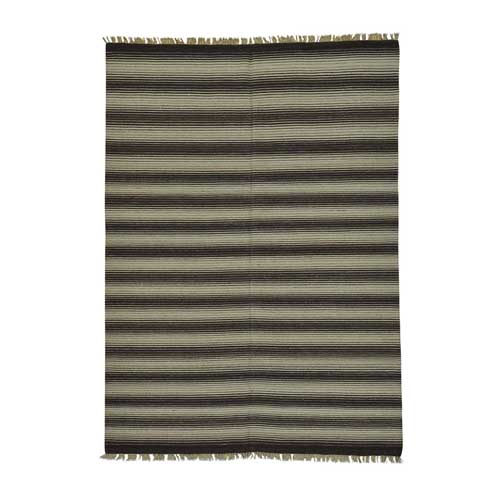 Pure Wool Striped Durie Kilim Flat Weave Reversible