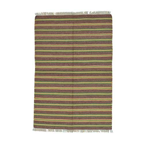 Striped Durie Kilim Flat Weave Hand Woven Oriental