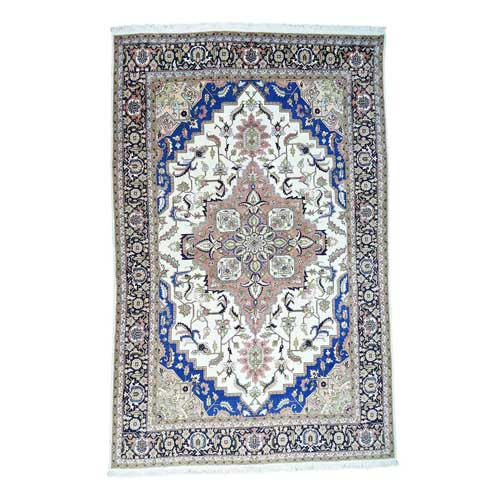 Mansion Size Persian Heriz Thick and Plush Hand Knotted