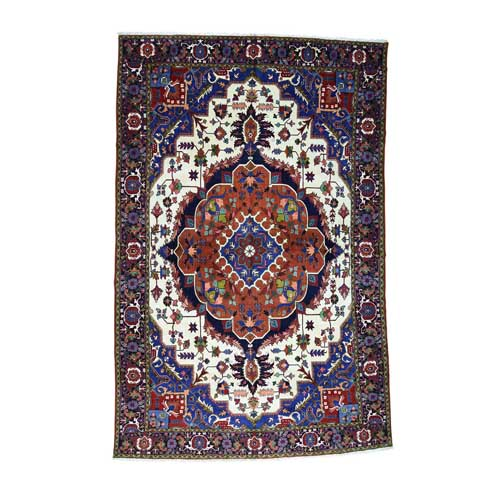 Pure Wool Mansion Size Persian Heriz Hand Knotted