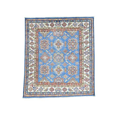 Hand-Knotted Super Kazak Tribal Design Squarish Oriental
