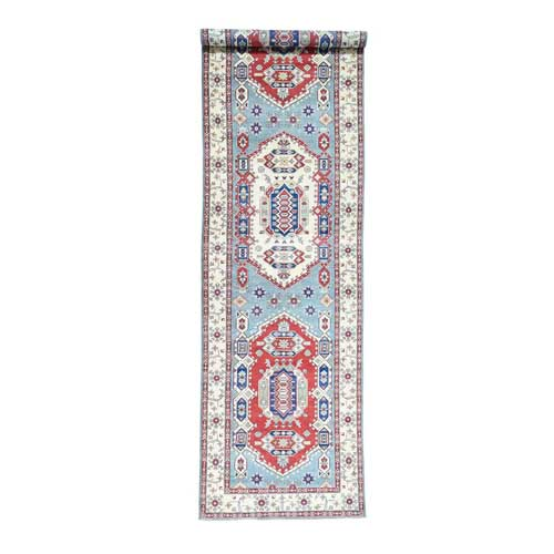 Hand-Knotted Gallery Size Kazak Tribal Design Oriental