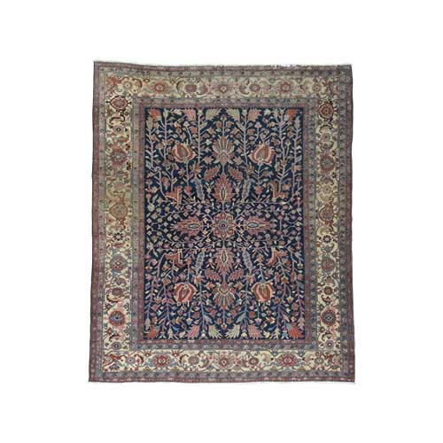 Antique Persian Heriz All Over Design Even Wear Oriental