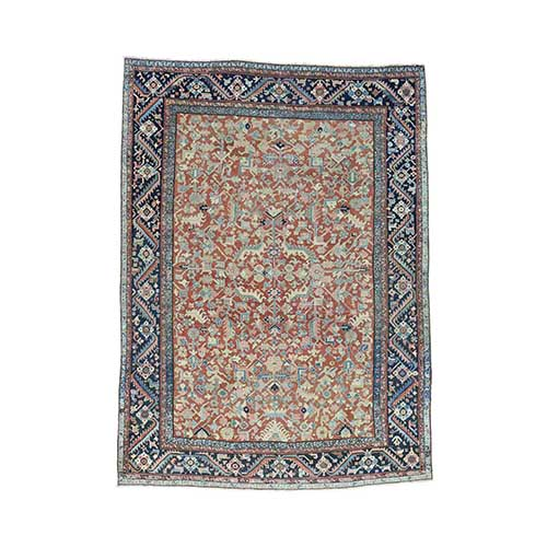 Antique Persian Heriz All Over Design Oriental Even Wear