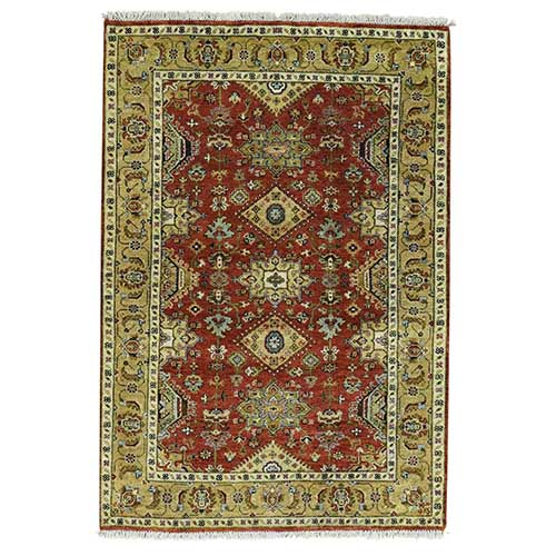 100 Percent Wool Hand-Knotted Karajeh Oriental Carpet