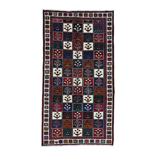 Semi Antique Persian Bakhtiari Wide Runner Hand-Knotted