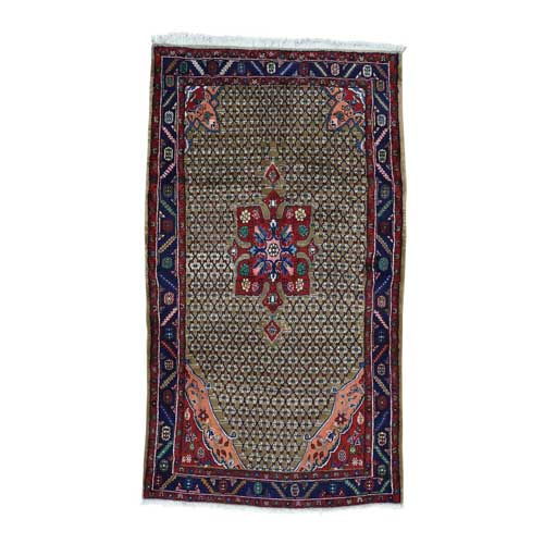 Hand-Knotted Persian Hamadan Wide Runner