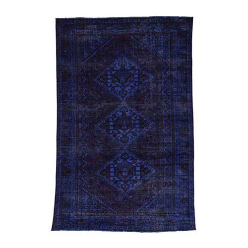 Hand-Knotted Overdyed Shiraz 100 Percent Wool Oriental