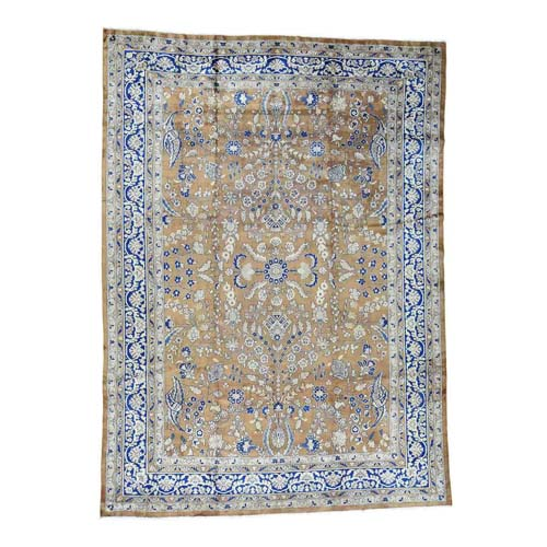 Hand-Knotted Antique Persian Sarouk Exc Cond Oriental