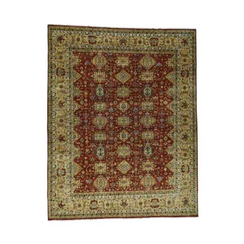 Hand-Knotted 100 Percent Wool Karajeh Oversize Oriental Rug