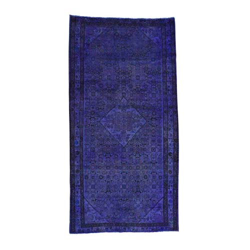 On Clearance Handmade Persian Hussainabad Overdyed Worn Wide Runner