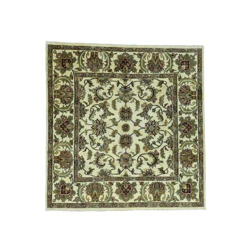 Hand-Knotted 100 Percent Wool Agra Square Oriental