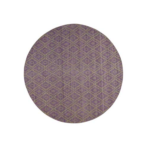 Reversible Round Kilim Flat Weave Hand-Woven Pure Wool Oriental