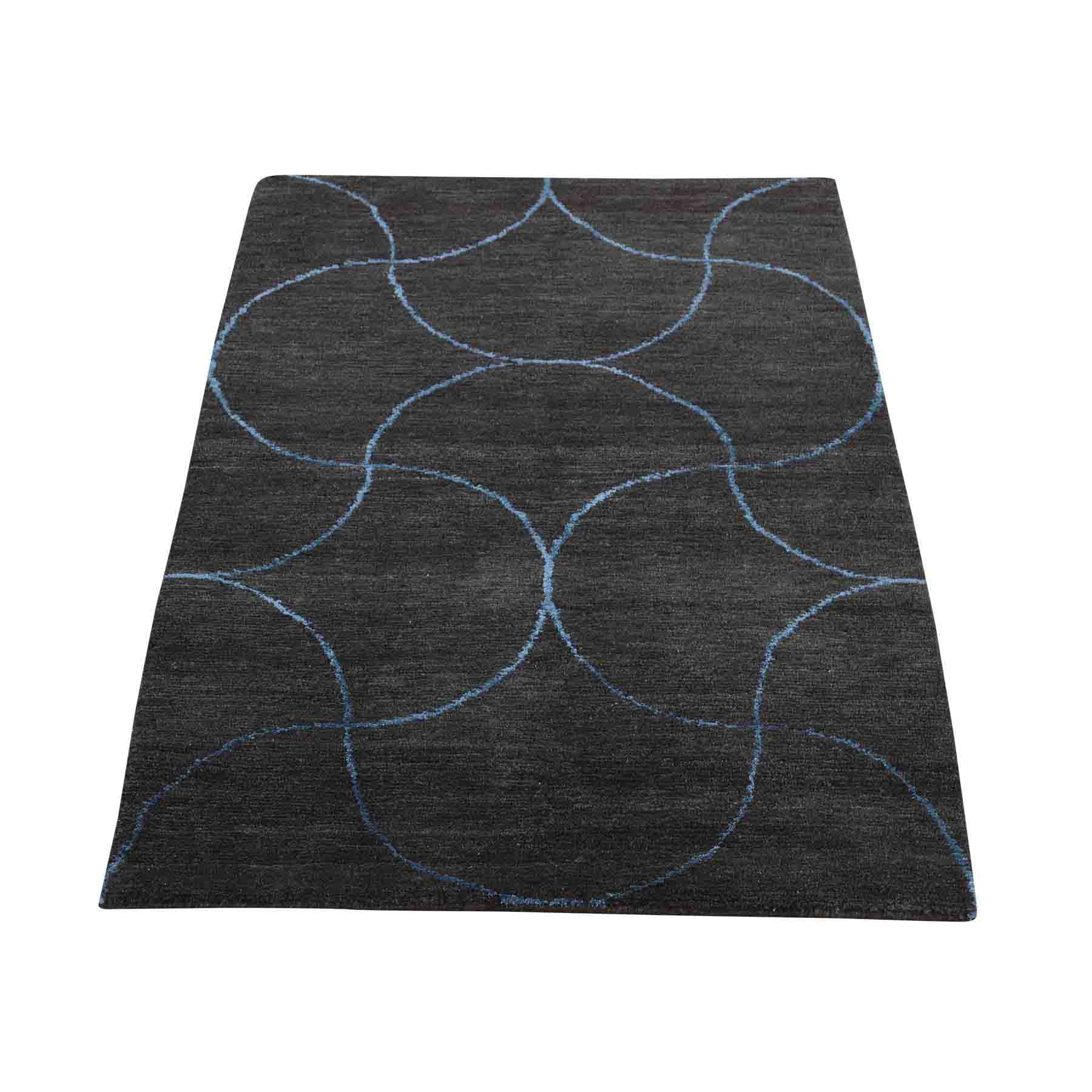 Oriental Rug Modern Living Room: Hand Knotted Indo Gabbeh Modern Wool And Silk Oriental Rug