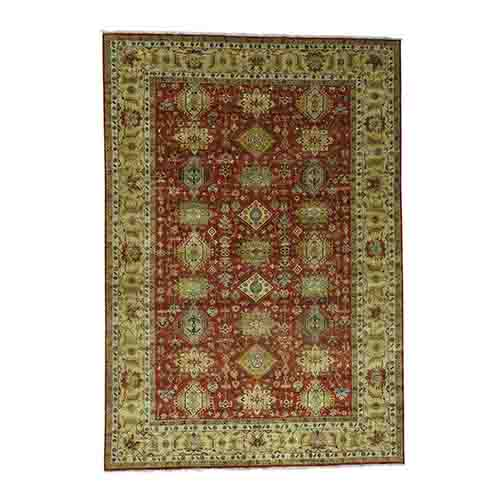 Hand-Knotted 100 Percent Wool Karajeh Oriental Rug