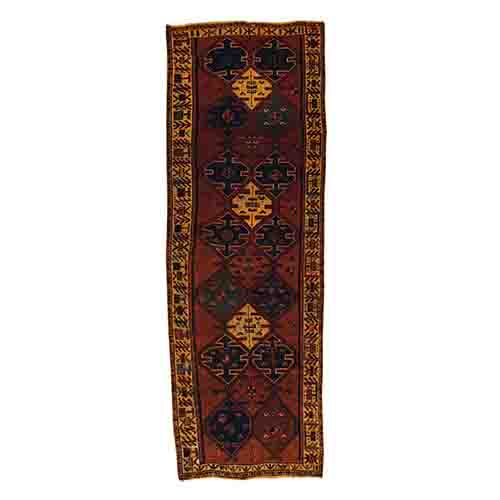 Hand Knotted Brown Overdyed Shiraz Pure Wool Wide Runner