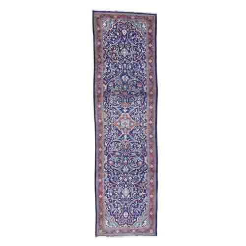 Hand-Knotted Persian Mahal Wide Runner Oriental