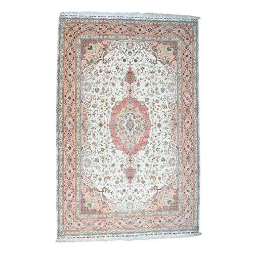 Hand-Knotted Persian Tabriz 400 Kpsi Mansion Size Oriental