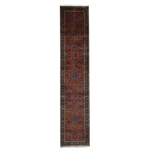 Sarouk Fereghan Hand-Knotted New Zealand Wool Runner