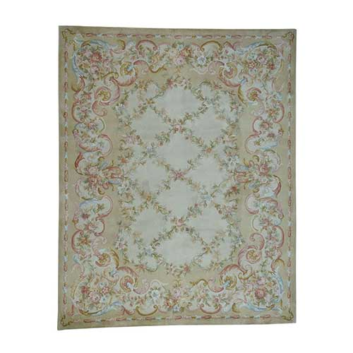 Oversize Savonnerie Floral Trellis Design Thick And Plush