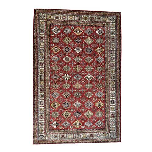 Oversize Hand-Knotted Pure Wool Super Kazak Oriental