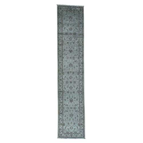 Ziegler Mahal Overdyed Pure Wool Hand-Knotted Runner
