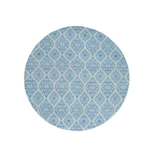 Hand-Woven Flat Weave Reversible Kilim Round Oriental