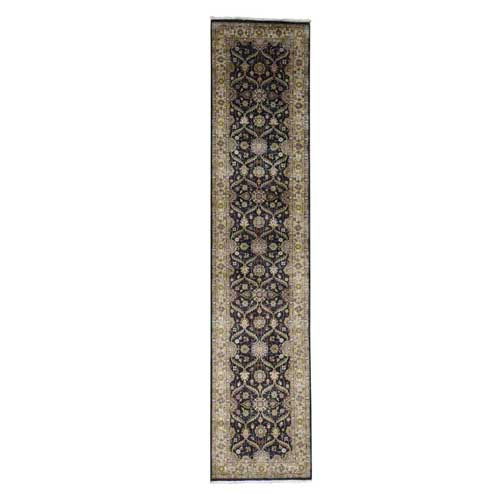 Hereke Design Wool and Silk Hand-Knotted 300 Kpsi Runner
