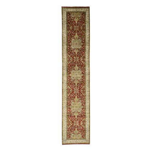 Kashan Revival New Zealand Wool Hand-Knotted 300 Kpsi Runner