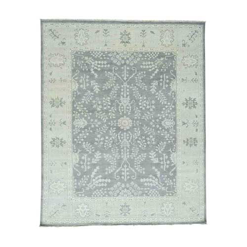 Hand-Knotted Turkish Knot Oushak Pure Wool Oriental