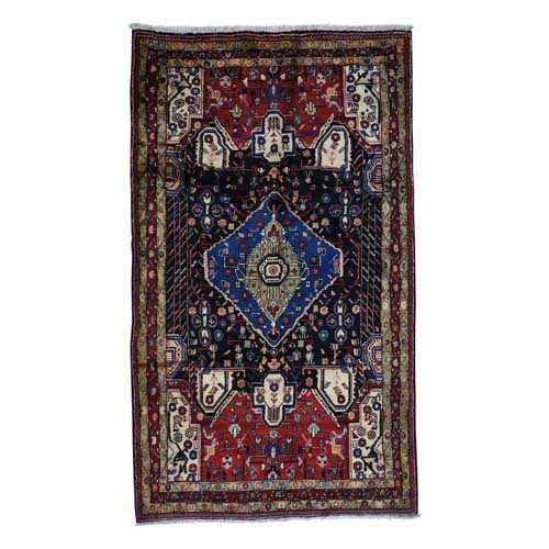 Persian Nahavand Hand-Knotted Pure Wool Wide Runner