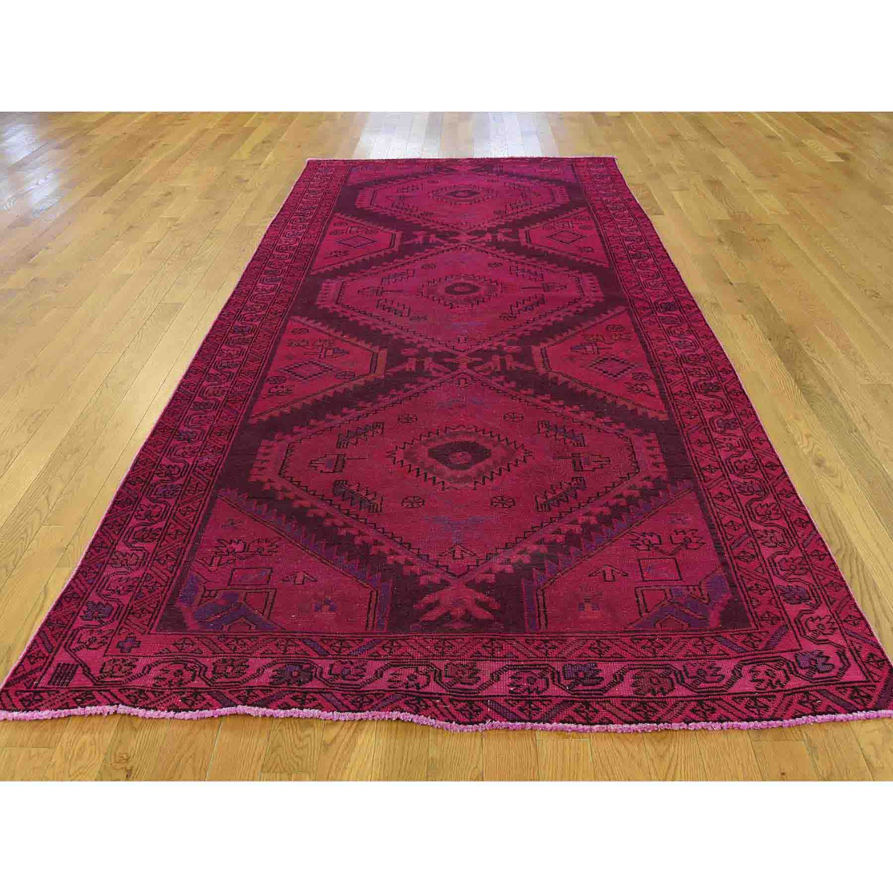 Overdyed-Vintage-Hand-Knotted-Rug-193020