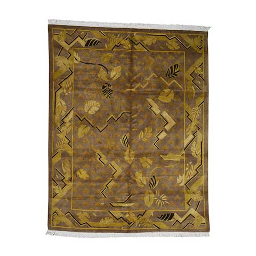 Hand Knotted Pure Wool Gold Tibetan Oriental Clearance